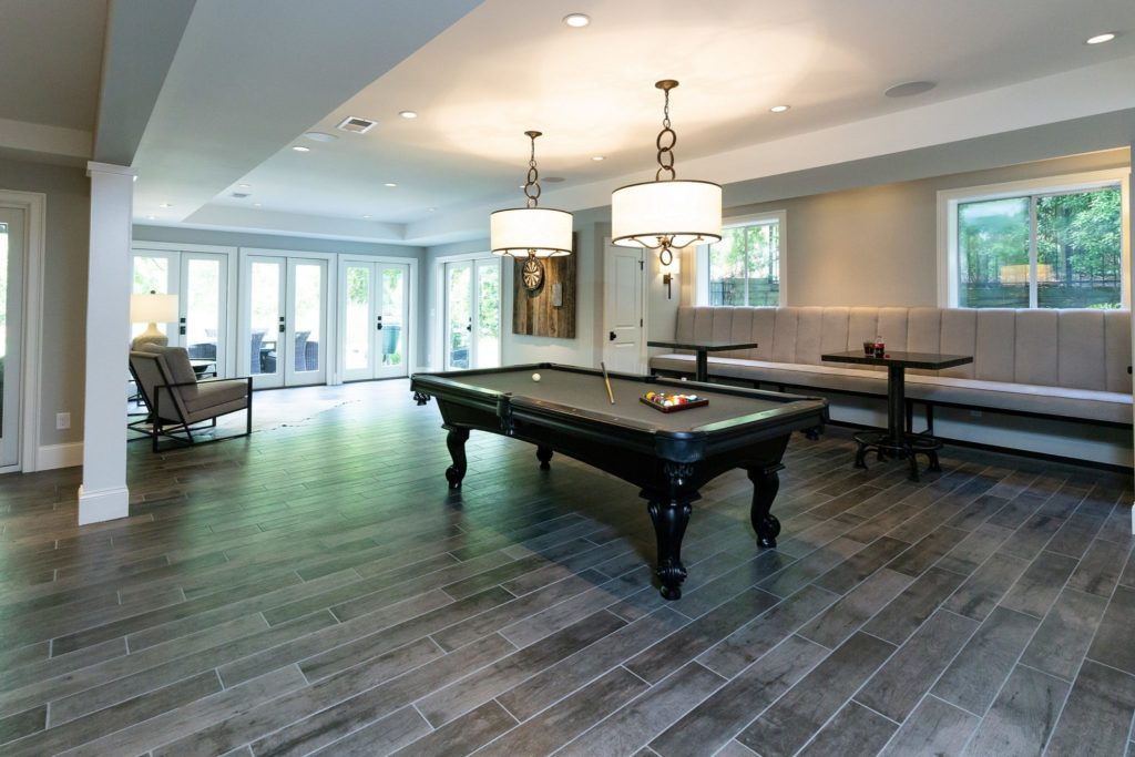 Terrace Level Basement with pool table